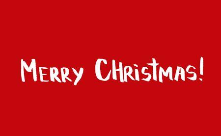 luz roja: Saludo simple minimalista Tarjeta de Navidad con letras de tipograf�a dibujada a mano. banner de vacaciones. Cartel de la vendimia. Feliz Navidad