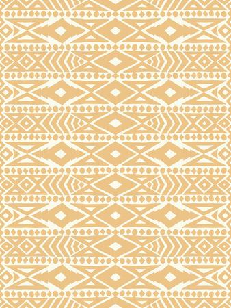 アステカ族のタトゥー部族メキシコ シームレス パターン。流行に敏感な自由奔放に生きるシックな背景。トレンディなレイアウト。高級美術印刷、  イラスト・ベクター素材