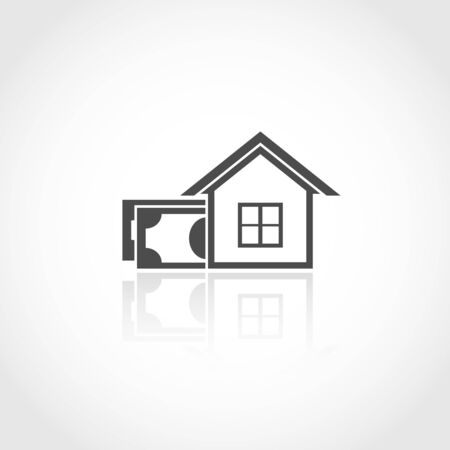 property investment: Property investment web icon. Financial money concept Illustration