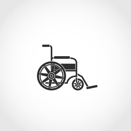 physical impairment: wheel chair web icon. Airport navigation sign