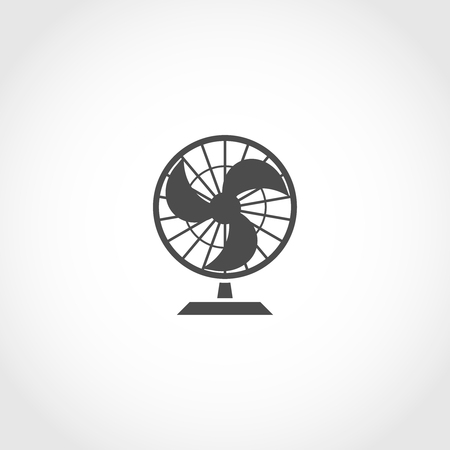 Air fan vector icon. Climatic equipment icon. Illustration