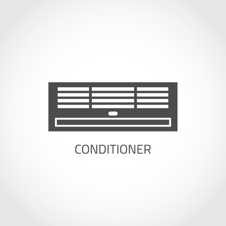 climatic: Conditioning vector icon. Climatic equipment icon. Air conditioner icon