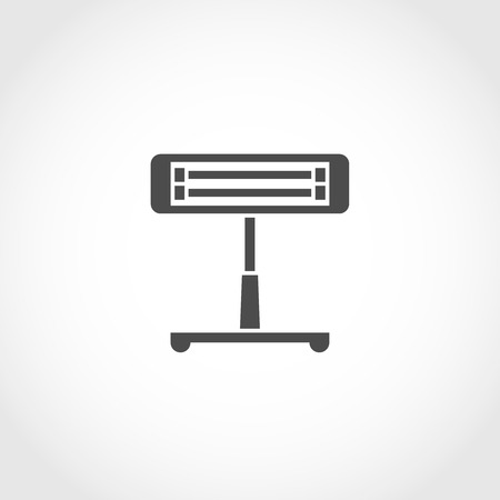 climatic: Infrared heater vector icon. Climatic equipment icon. Illustration