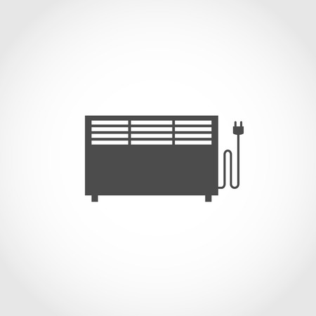 climatic: Convector heating vector icon. Climatic equipment icon.
