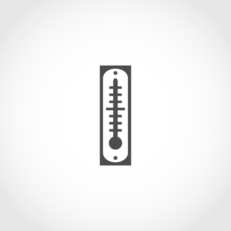 Thermometer vector icon. Climatic equipment vector icon.
