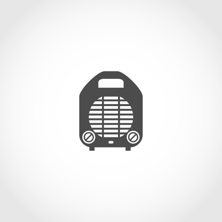 climatic: Heater vector icon. Climatic equipment vector icon.