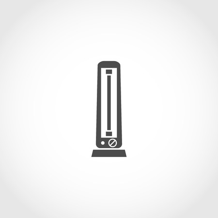 climatic: Carbon heater vector icon. Climatic equipment vector icon. Illustration