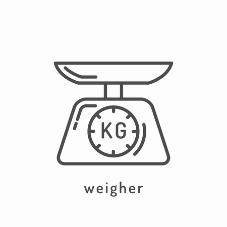 weighed: Weighed icon. Illustration