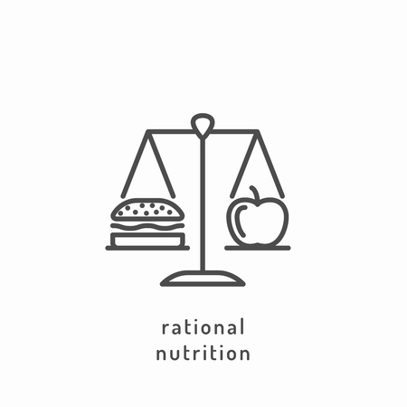 nutrition icon: Rational nutrition icon.
