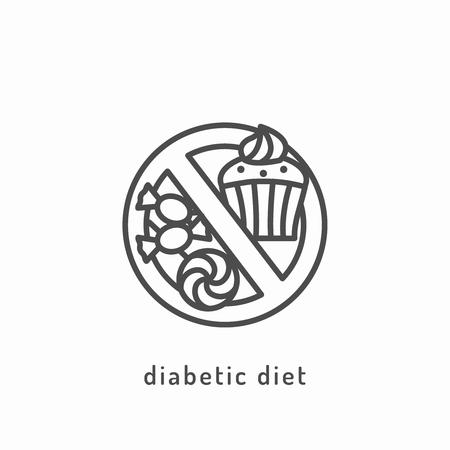 diabetic: Diabetic diet icon.