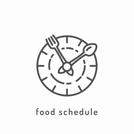 slimming: Food schedule icon. Healthy diet icon, healthy dieting icon, rational nutrition icon, slimming loss weight, healthy lifestyle, balanced diet eating, organic food, vegetarian food, healthy diet concept