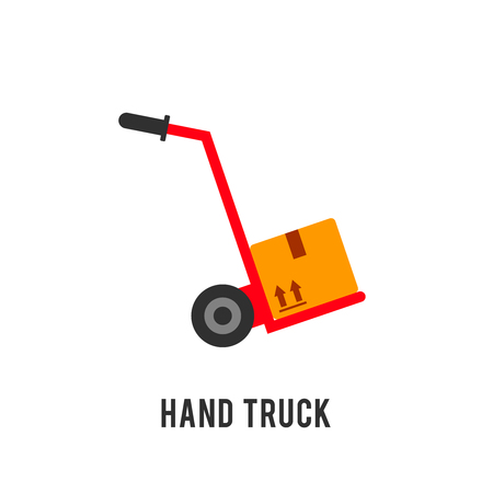hand truck: Hand truck illustration. Cargo delivery vector concept Illustration