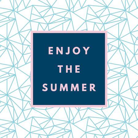triangular banner: Summer hipster boho chic background with triangular geometric texture. Minimal printable journaling card, creative card, art print, minimal label design for banner, poster, flyer. Illustration