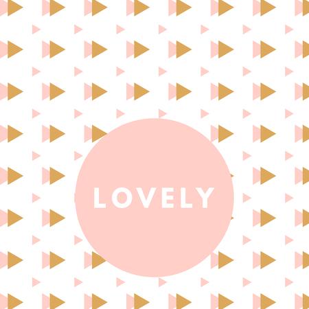 girlie: Creative girlie printable journaling card. Lovely princess. Romantic cute poster. Minimalism design for banner, flyer, wallpaper Illustration