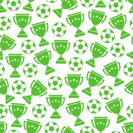 european championship: Sport football balls and cups seamless pattern for european championship.