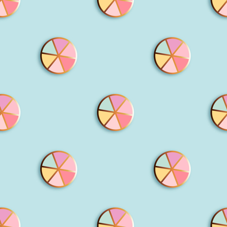 Fashion pins seamless pattern. Gem stone with edging background.