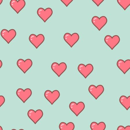 Colorful hearts seamless pattern. Valentine design. Design template for holiday and wedding card, wallpaper, background. Vector illustration EPS 10