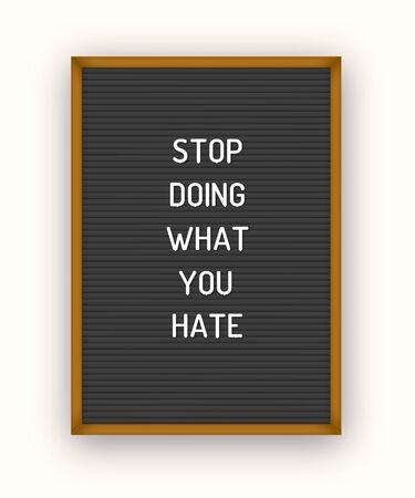 Romantic letterboard quote Illustration