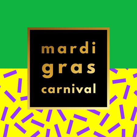 Mardi Gras carnival geometric background