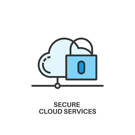 storage device: secure cloud services icon
