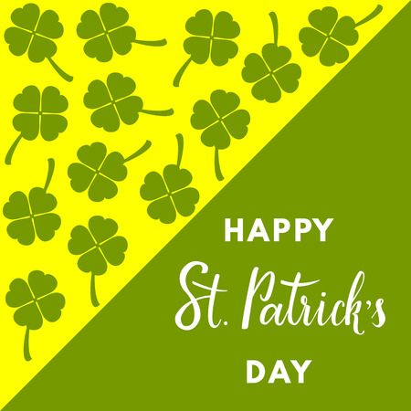 Saint Patricks Day greeting card Illustration