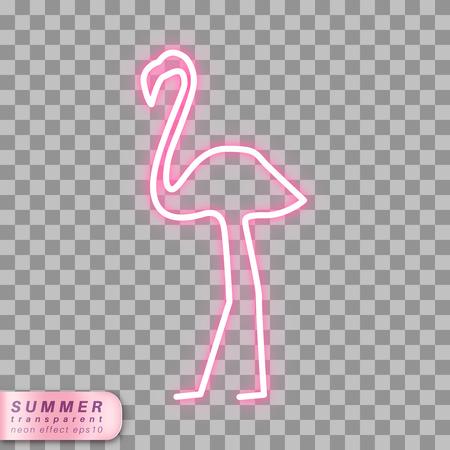 Neon flamingo symbol