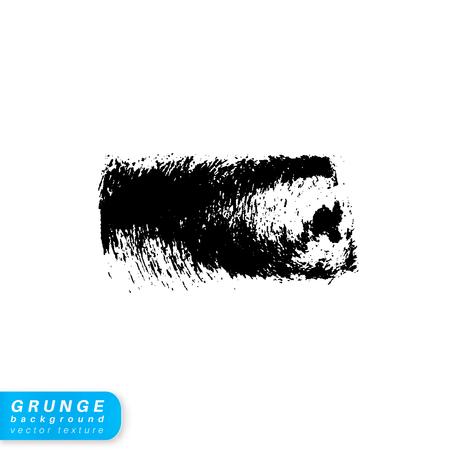 gouache: Ink grunge stain. Brush stroke isolated on white background