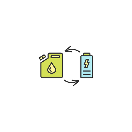Fuel replacement icon outline, linear, editable stroke vector object.
