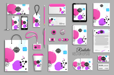 Corporate identity template set for business stationery mock-up