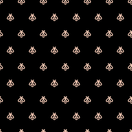 Honey bee seamless pattern. Template for wrapping paper, wallpaper, packaging. Apiculture concept
