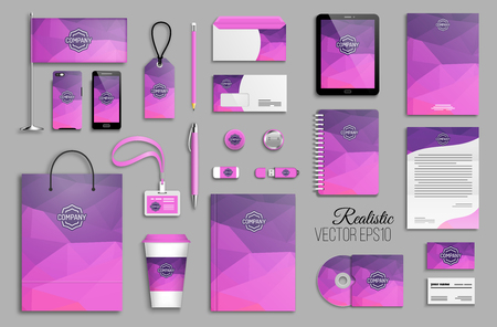 Corporate identity template set and business stationery mock-up Banco de Imagens