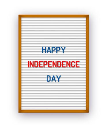 Happy USA Independence day letterboard greeting card