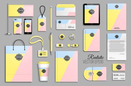 Corporate Identity-Vorlagenset und Branding-Design Vektorgrafik