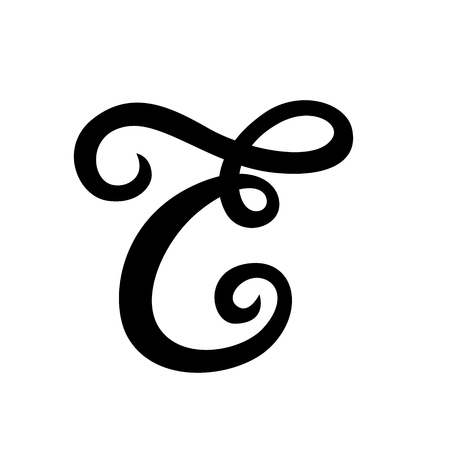 Handwritten vector custom ampersand on white background. Isolated. Great for wedding invitations, greeting cards, posters, placards Illustration
