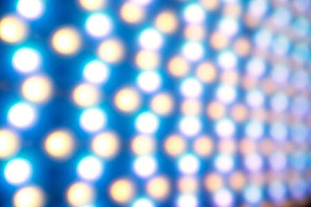 Defocused led light background. Illuminated pattern