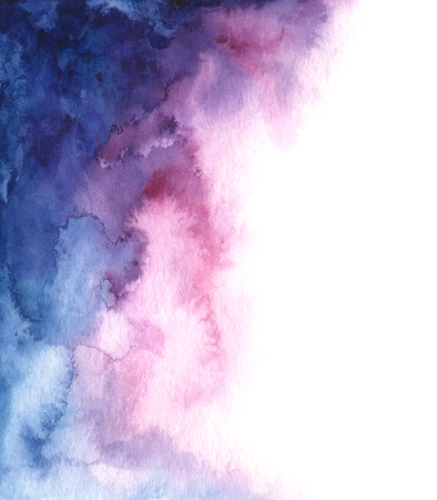 Hand painted watercolor abstract blue, pink and purple gradient background for your design Standard-Bild - 115455752