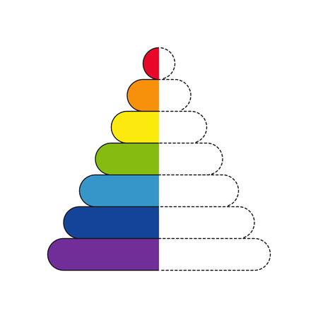 Vector illustration of pyramid for coloring book Standard-Bild - 118965928