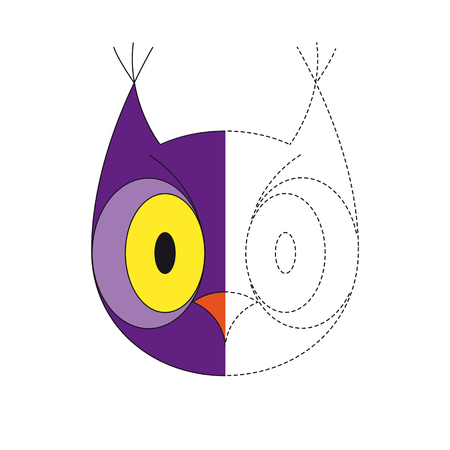 Vector illustration of owl for coloring book Stock Illustratie