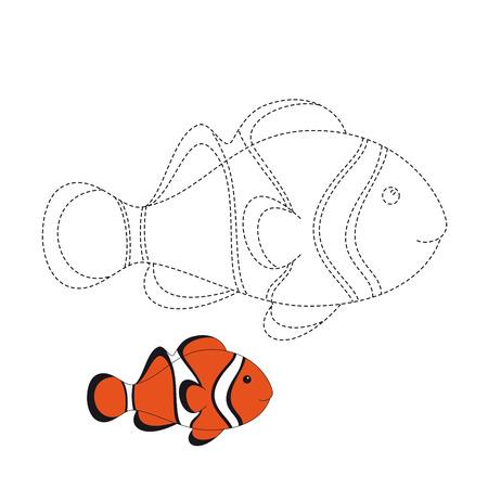 Vector illustration of amphiprion for coloring book Standard-Bild - 118965931