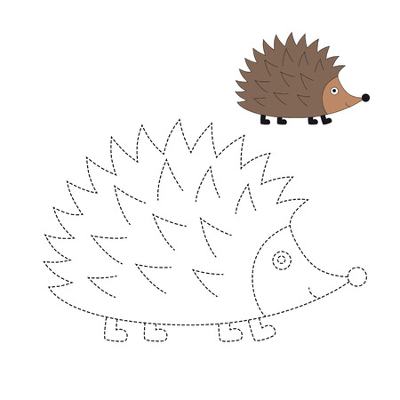 Vector illustration of hedgehog for coloring book Standard-Bild - 118850825