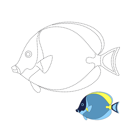Vector illustration of fish for coloring book Standard-Bild - 118850846