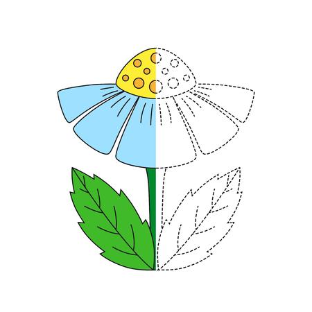 Vector illustration of chamomile for coloring book Standard-Bild - 118850848