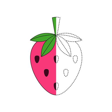 Vector illustration of strawberry for coloring book Standard-Bild - 118850851