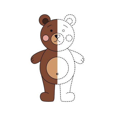 Vector illustration of funny bear for coloring book Standard-Bild - 118850852