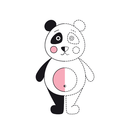 Vector illustration of funny panda for coloring book Standard-Bild - 118965933