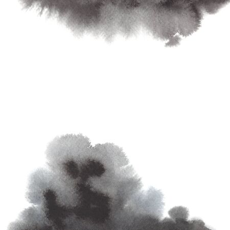 White background with watercolor gray spots 免版税图像