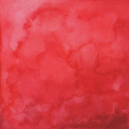 Hand painted watercolor abstract red background for your design