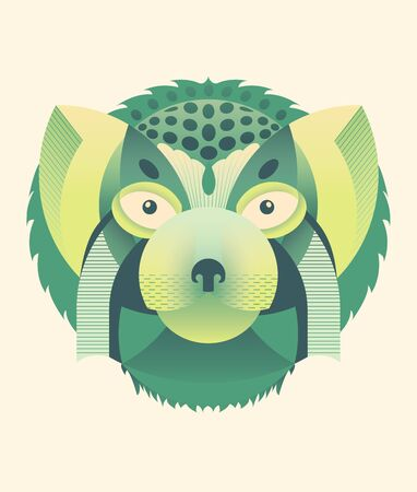 Geometrical style illustration of a wild cat mannul Illustration