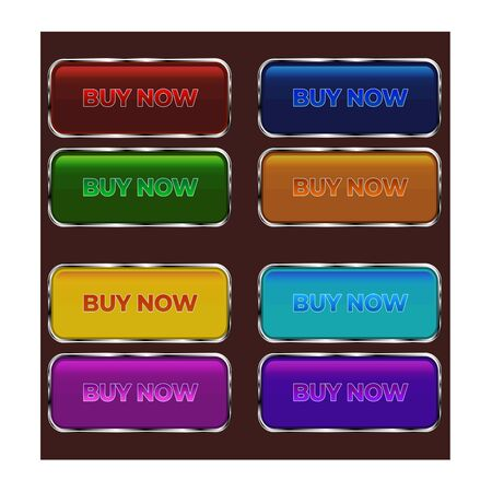 retro style buttons set for game, flash, web, slot ui