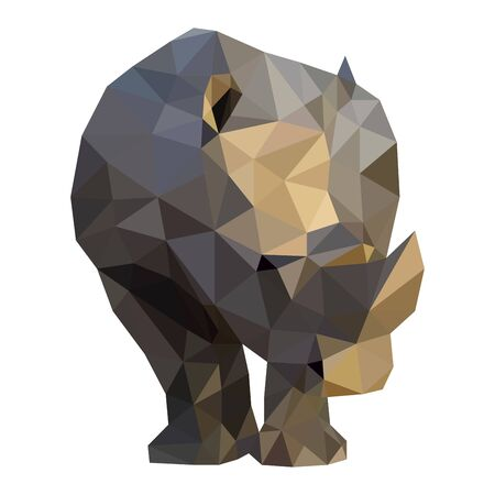Polygon vector origami nature rhino 向量圖像